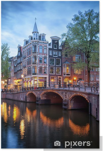 Evening in Amsterdam Poster - Themes