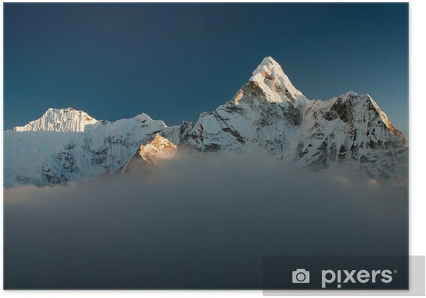 Evening view of Ama Dablam Poster - Themes