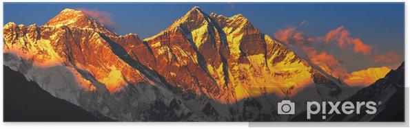 Póster Everest al atardecer. Vista desde Namche Bazar, Nepal - Temas