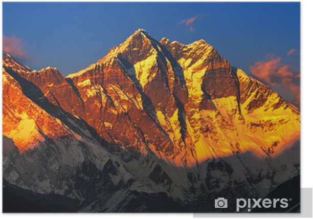 Everest at sunset. View from Namche Bazaar, Nepal Poster - Themes