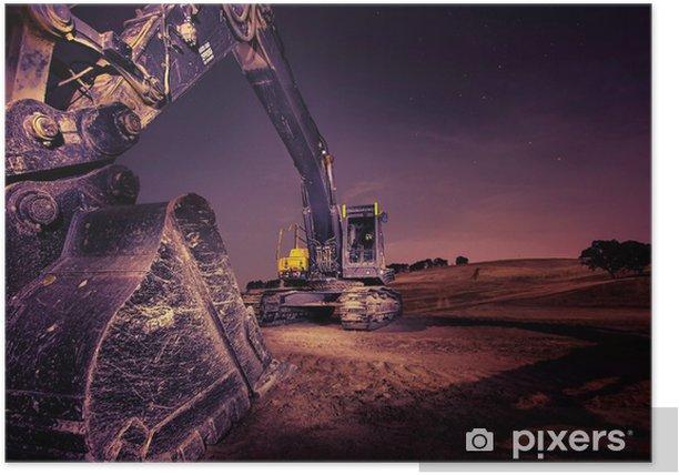 Poster Excavateur - Industrie lourde