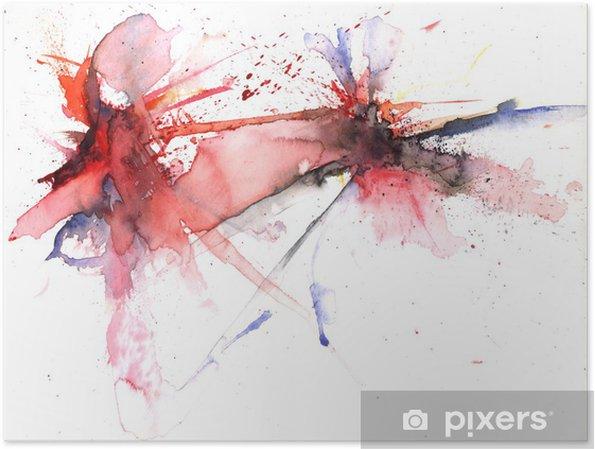 Póster Explosión de color - Artes y creación