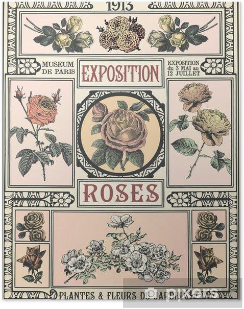Exposition de Roses Poster - Plants
