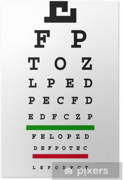 eye chart Poster - Health and Medicine
