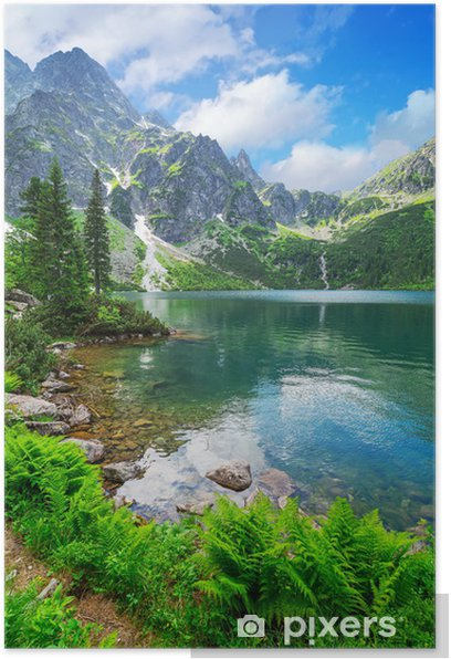 Eye of the Sea lake in Tatra mountains, Poland Poster - Themes
