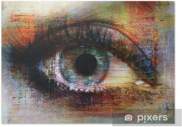 eye texture Poster -