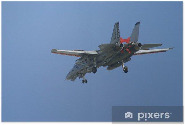 Poster F-14 Tomcat venir en vue de l'atterrissage - Dans les airs