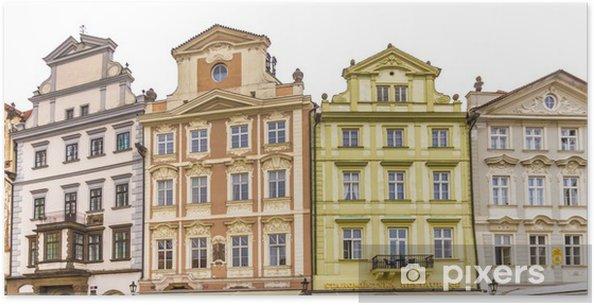 Poster Façade du bâtiment historique à Prague - Industrie lourde
