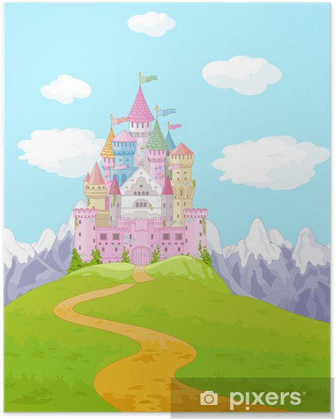 Poster Fairy Tale Castle Landschap -