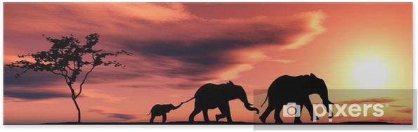 Poster Famille d elephants - Thèmes