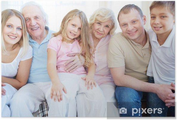 Poster Famille de six - Vie de famille