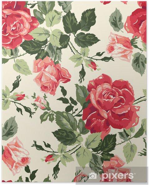 Póster Fancy rose wallpaper - Temas