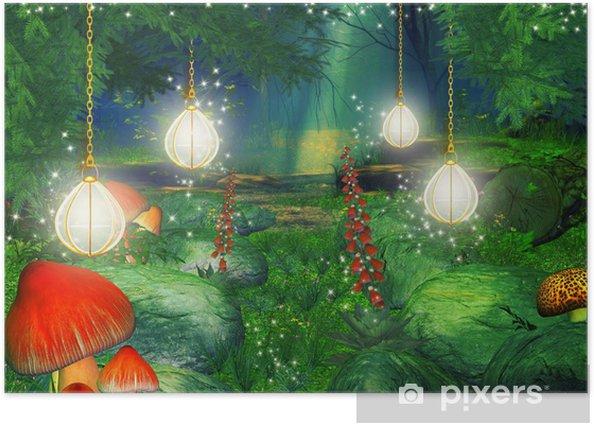 Poster Fantaisie forêt illustration - Esotérisme