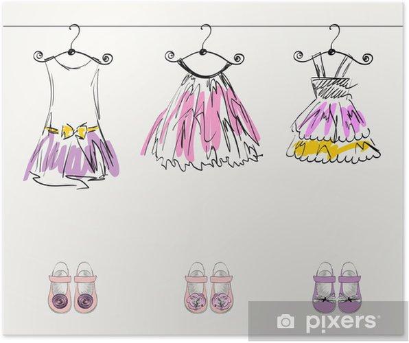 4e0bfe1e6625 Poster Fashionabla vackra kläder för små flickor • Pixers® - Vi ...