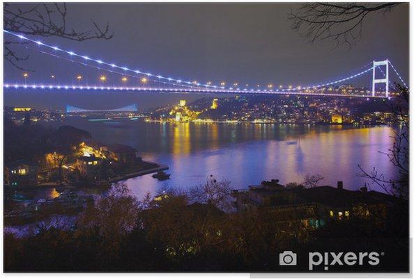 Poster Fatih Sultan Mehmet-brug, in de nacht 6 - Thema's
