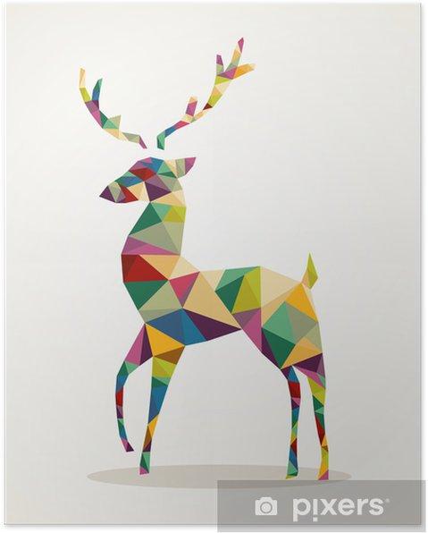 Póster Feliz Navidad de moda renos abstracta EPS10 archivo. -