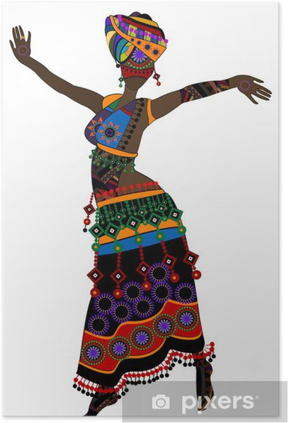 Poster Femme ethnique - Divertissements