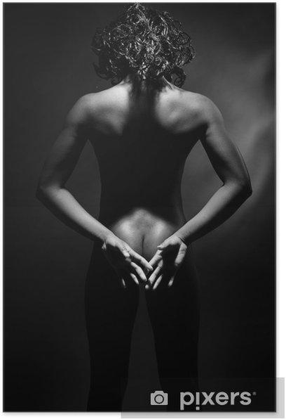 Femme Nue De Dos femme noire nue de dos. poster • pixers® • we live to change