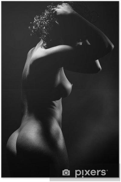 Poster Femme nue de profil - Teman