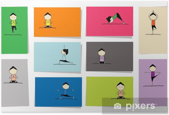 Poster Femme pratiquant le yoga, 10 cartes pour votre conception - Sports individuels