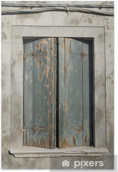 Poster Fenêtre de Burano, Venise Italie - Villes européennes
