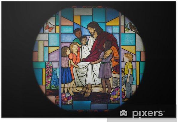 Poster Fenêtre de l'église - Art et création
