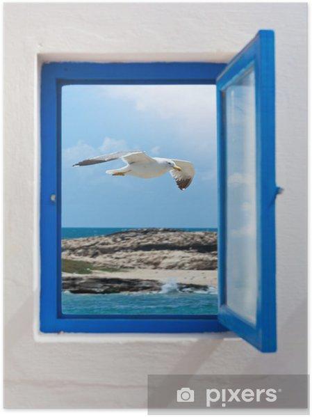 Fenster zum Meer Poster - Themes