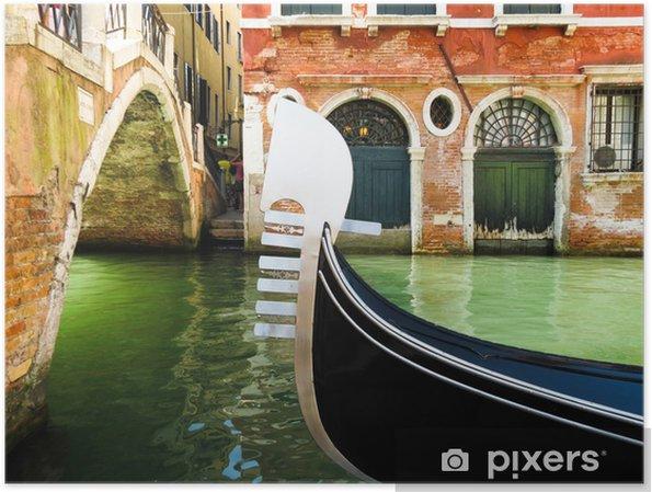 Poster Ferro - fer de proue-tête de la gondole, Venise, Italie - Villes européennes
