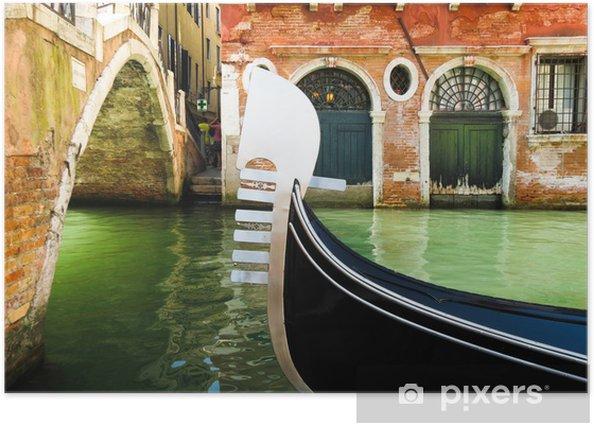 Ferro - iron prow-head of the gondola, Venice, Italy Poster - European Cities