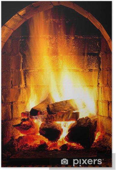 Poster Feu dans cheminée - Thèmes