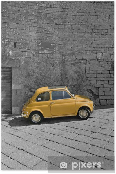 Poster Fiat 500 - Europa