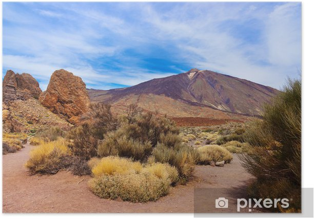 Finger Of God rock at volcano Teide in Tenerife island - Canary Poster - Themes