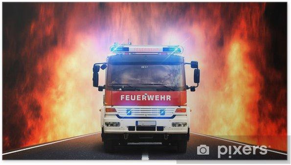 Poster Fire Department Itinéraire - Métiers
