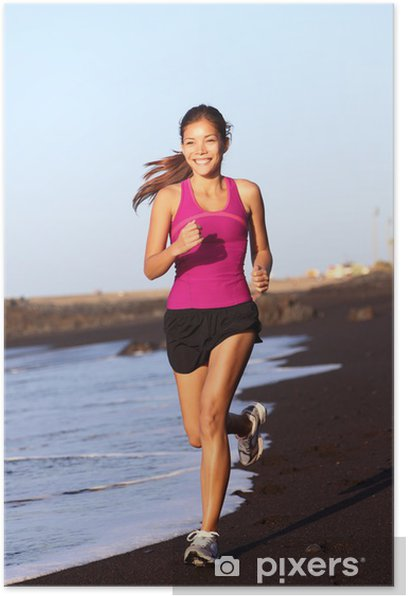 Fitness sport woman running Poster