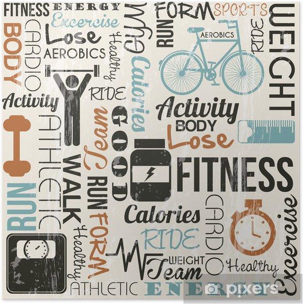 Poster Fitness vector - Onderweg