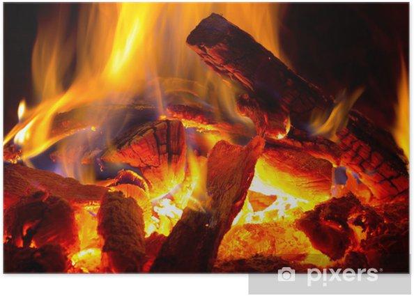 Poster Flamme de feu - Thèmes