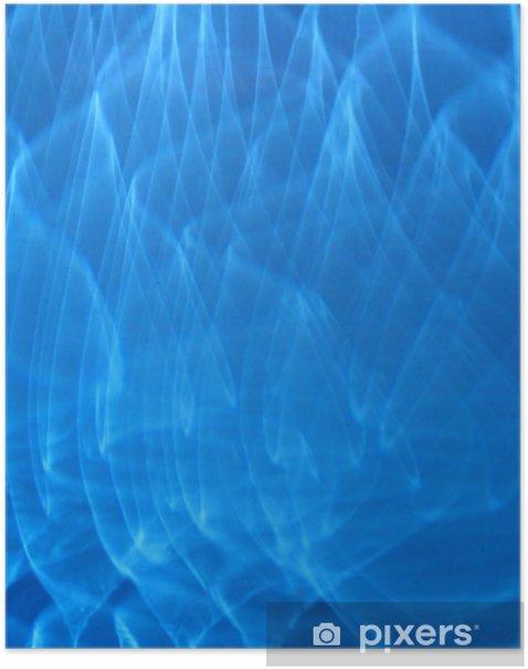 Poster Flammes bleues - Textures