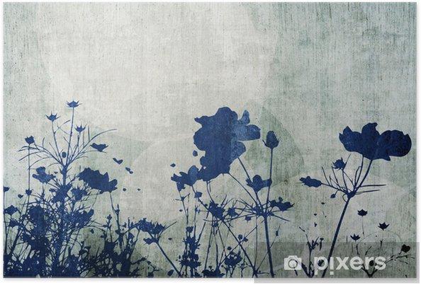 Poster Fleur abstraite - Fleurs