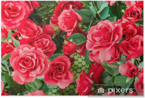 Poster Fleur De Rose Rouge Pixers Nous Vivons Pour Changer