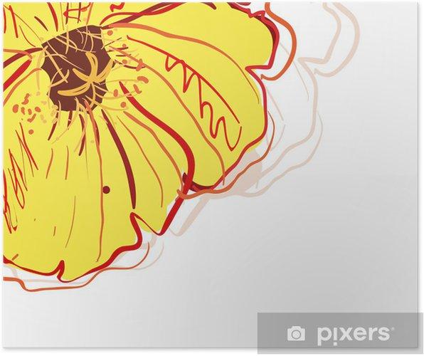 Poster Fleur jaune - Fleurs