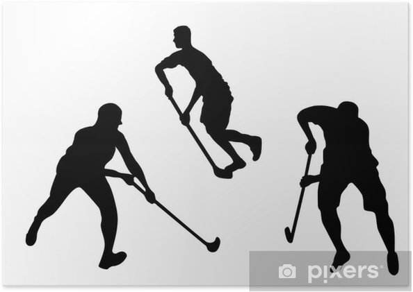 Poster Floorball ofense - Sports individuels