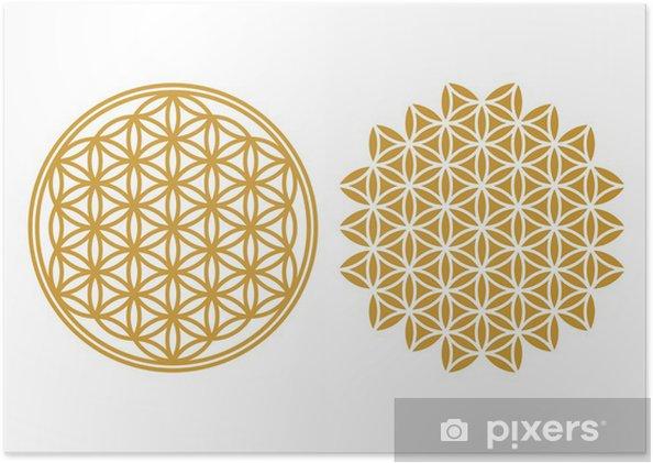 Póster Flor de la Vida - Icono de protección, la Geometría Sagrada - Esoterismo