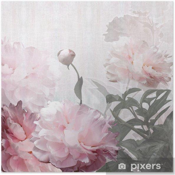 Poster Floral design pioenen - Stijlen