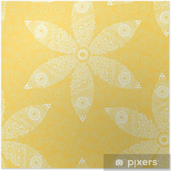Poster Floral seamless pattern - Arrière plans