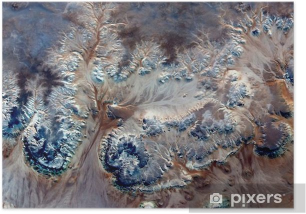Póster Flores bajo el agua alegoría, planta Piedra fantasía, abstracto Naturalismo, abstractos fotografía desiertos de África desde el aire, el surrealismo abstracto, espejismo, formas de fantasía en el desierto, plantas, flores, hojas, - Paisajes