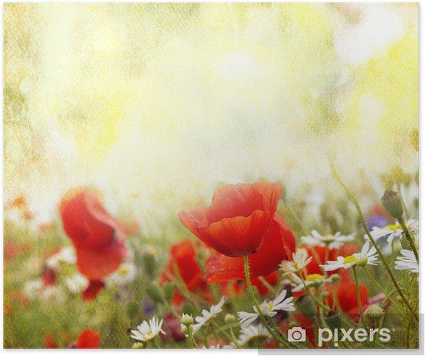 Póster Flores de amapola - Temas