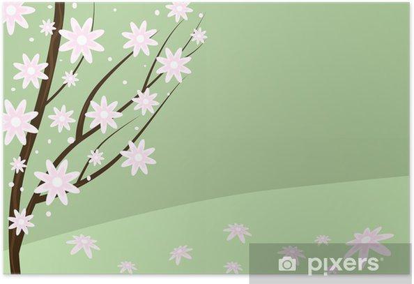 flowering tree Poster - Trees