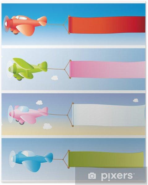 Poster Flugzeugwerbung - Vente