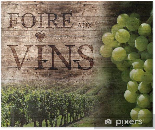 Poster Foire aux Vins - Alcool