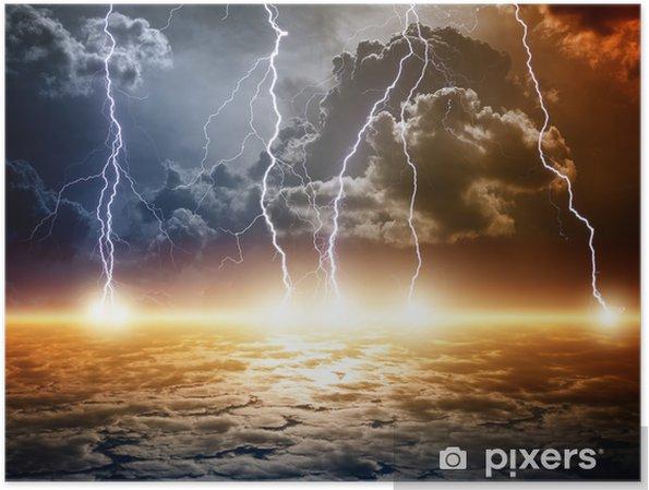 Poster Fond apocalyptique dramatique - Catastrophes naturelles